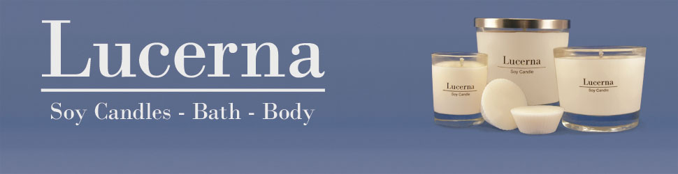 High quality cruelty free soy candles   Lucerna Soy Candles